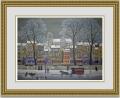 ミッシェルドラクロワ「La Neige sur la Seine」 額縁付き