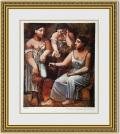 ピカソ 「三人の女性」 額縁付き