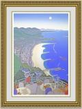 マックナイト 「神戸コーストウィズビーチ」 額縁付き