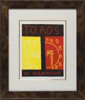 【ヴィンテージアート】ピカソ「Toros En Vallauris 1955」 面金加工付 麻布マット仕様 額縁付き