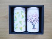 緑茶ギフト 柚子桜TB缶2 正面