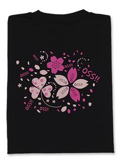 Tシャツ OSS!!サクラ咲く (黒) 画像