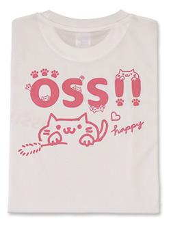 Tシャツ OSS!!キャット (白) 画像
