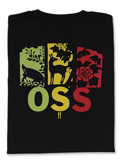 Tシャツ OSS!! 猪鹿蝶 (黒) 画像