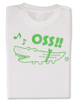 Tシャツ OSS!! ワニ (白) 画像