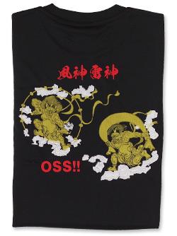 Tシャツ OSS!! 風神雷神 (黒) 画像