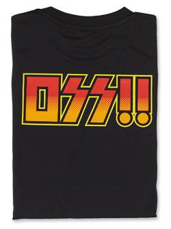 Tシャツ OSS!! ロックバンド (黒) 画像