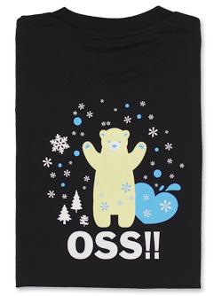 Tシャツ OSS!! しろくま (黒) 画像