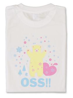 Tシャツ OSS!! しろくま (白) 画像
