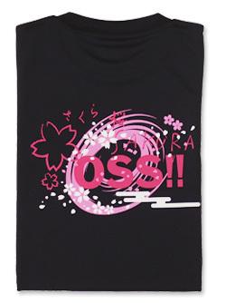 Tシャツ OSS!! 桜・SAKURA (黒) 画像