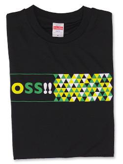 Tシャツ OSS!! スクエア (黒) 画像