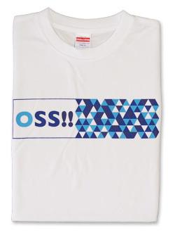 Tシャツ OSS!! スクエア (白) 画像