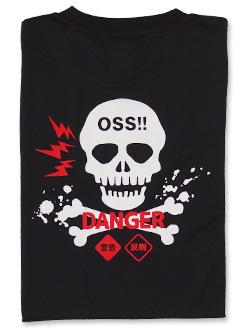 Tシャツ OSS!! どくろ (黒) 画像