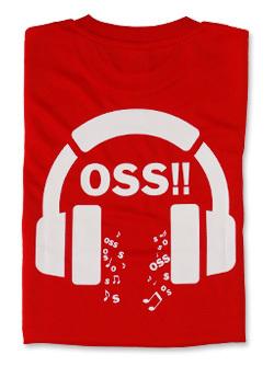 Tシャツ OSS!! Music (赤) 画像