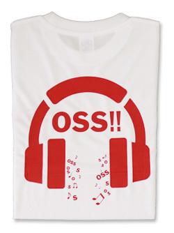 Tシャツ OSS!! Music (白) 画像