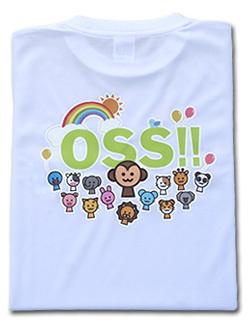OSS!! アニマル Tシャツ (白) 画像