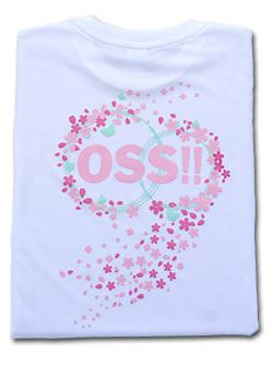 OSS!! 桜2016 Tシャツ (白) 画像