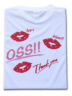 OSS!! キス Tシャツ (白) 画像