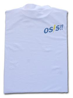 OSS!! ライジン Tシャツ 長袖ストレッチアンダーウェア (白) 画像