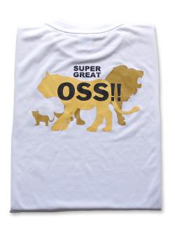 OSS!! ライオン Tシャツ (白) 画像