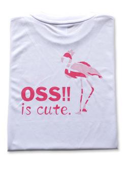 OSS!! フラミンゴ Tシャツ (白) 画像