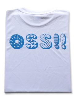 OSS!! パターン Tシャツ (白) 画像