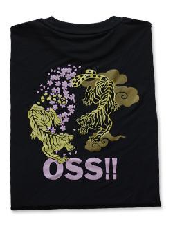 OSS!! 虎 Tシャツ (黒) 画像