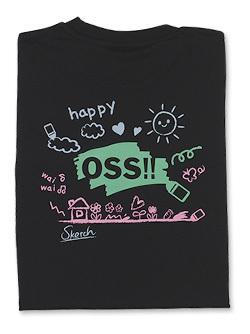 Tシャツ OSS!! らくがき (黒) 画像
