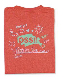 Tシャツ OSS!! らくがき (ミックスレッド) 画像