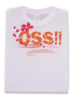 Tシャツ OSS!! 桜ワビサビ (白) 画像