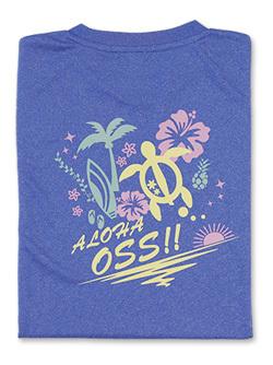 Tシャツ OSS!! ALOHA (ミックスブルー)  画像