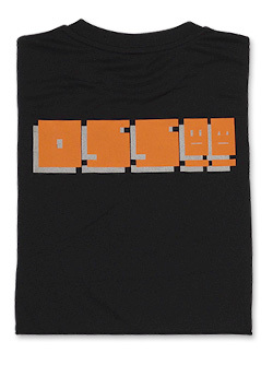 Tシャツ OSS!! ファミコン風 (黒)  画像
