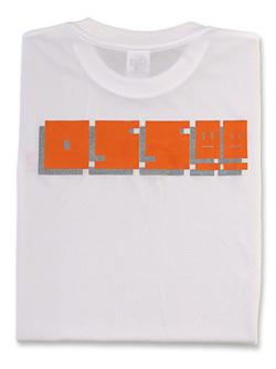 Tシャツ OSS!! ファミコン風 (白)  画像