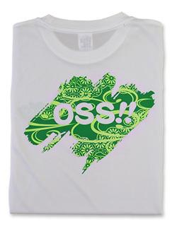 Tシャツ OSS!! 文様 (白)   画像