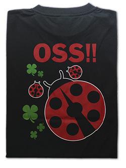 OSS!! てんとう虫 Tシャツ 黒 画像