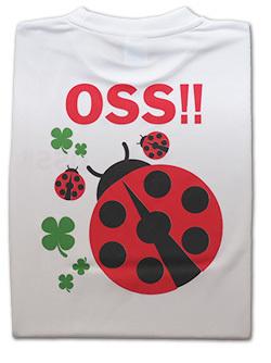 OSS!! てんとう虫 Tシャツ 白 画像