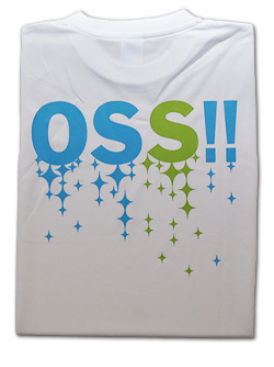 OSS!! キラキラ Tシャツ 白 画像