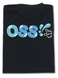OSS!! チェック Tシャツ 黒