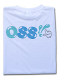 OSS!! チェック Tシャツ 白