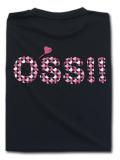 OSS!! ハート Tシャツ 黒
