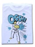 OSS!! 中段突き Tシャツ 白