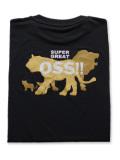 OSS!! ライオン Tシャツ 黒