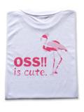 OSS!! フラミンゴ Tシャツ 白