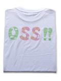 OSS!! ゆかいな動物 Tシャツ 白