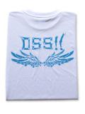OSS!! メタル Tシャツ 白