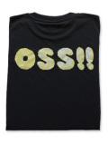 OSS!! パターン Tシャツ 黒