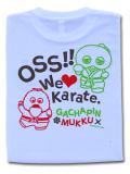 OSS!! ガチャピン&ムック2016 ドライメッシュTシャツ (ホワイト)