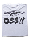 OSS!! ドラゴン Tシャツ 白