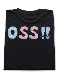 OSS!! ゆかいな動物 Tシャツ 黒