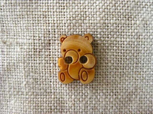 セレクト雑貨 フランスベア木製ボタン